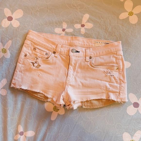Rag & Bone | Mila Tattered Magnolia Shorts